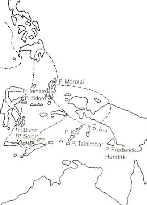 Wilayah kerajaan Ternate dan Tidore