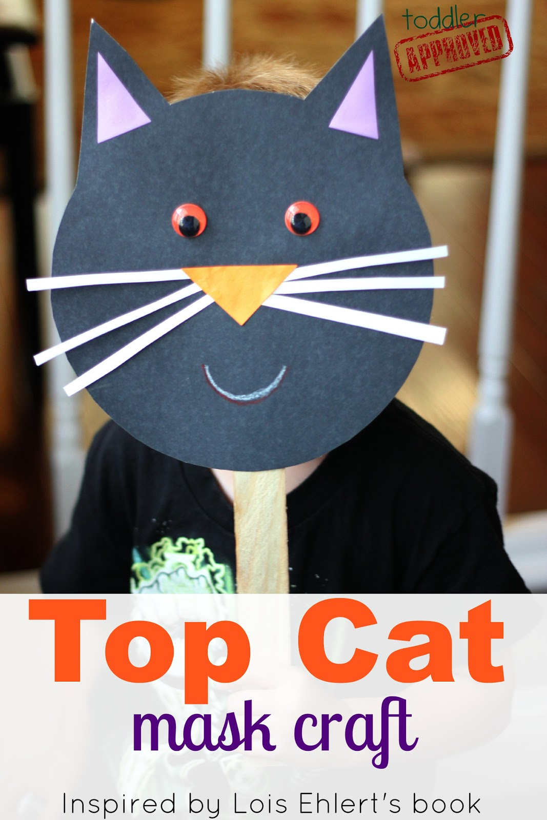 Toddler Approved Top Cat Mask Craft