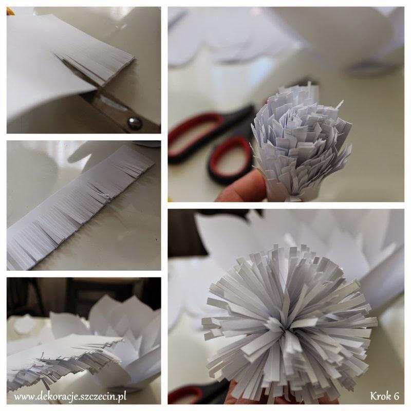 papierowy kwiat krok po kroku