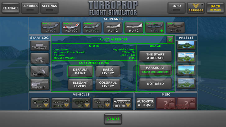Turboprop Flight Simulator 3D 1.24 Unlimited Coins