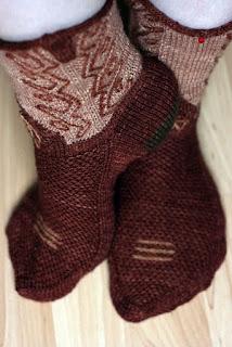 tricot-chaussettes-cow-boy