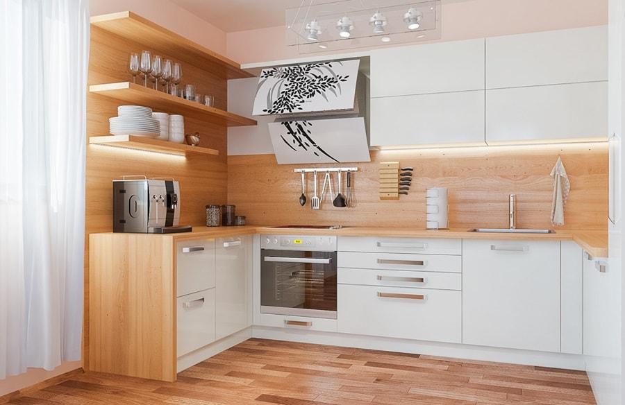 Muebles Para Cocinas : Ideas de cocinas en blanco y madera i con