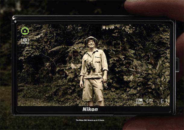 Detector de faces é com a Nikon