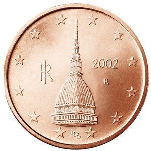 Mole Antonelliana na moeda de 0,02 euros italiana