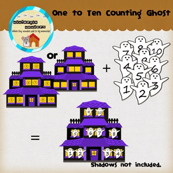 Free Halloween Counting Ghosts and Haunted House
