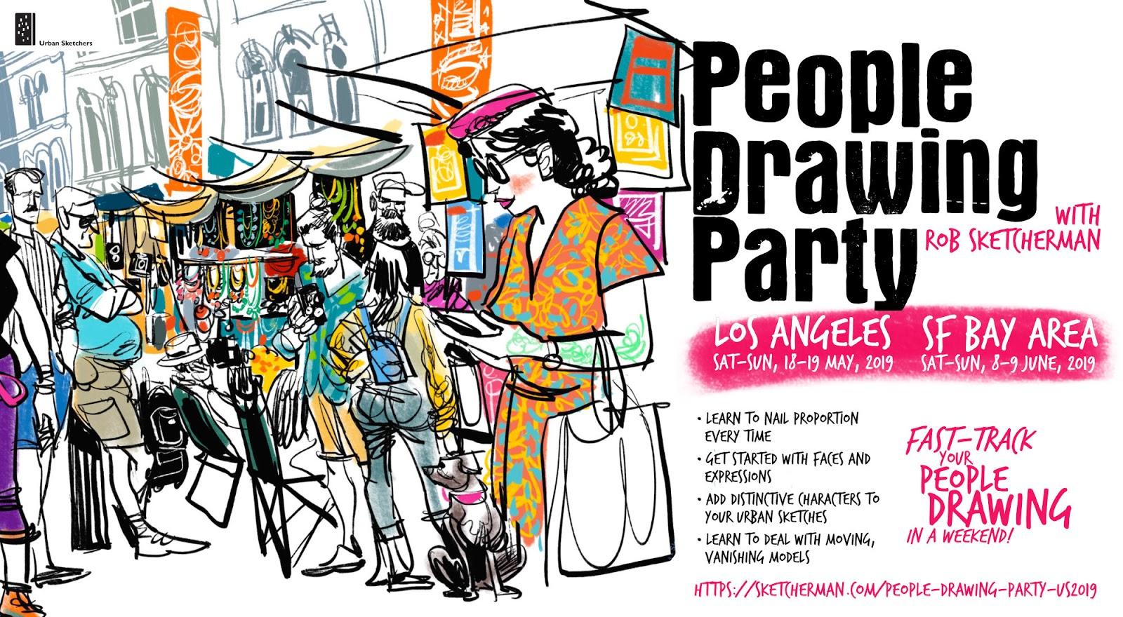 2b44b03527e3 USk Workshop: People Drawing Party   Urban Sketchers