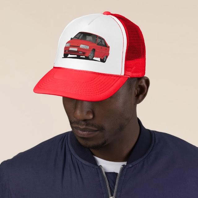Cornering  red Citroen BX GTi cap