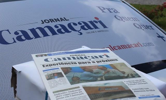 A 1ª Edição do Jornal Camaçari impresso está sendo distribuída nas ruas; baixe e confira a versão digital