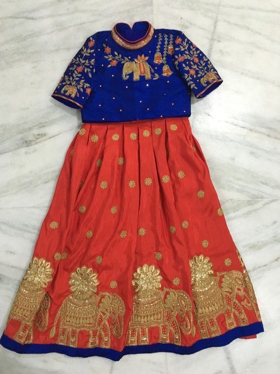 Heavy Lehenga High Neck Blouse