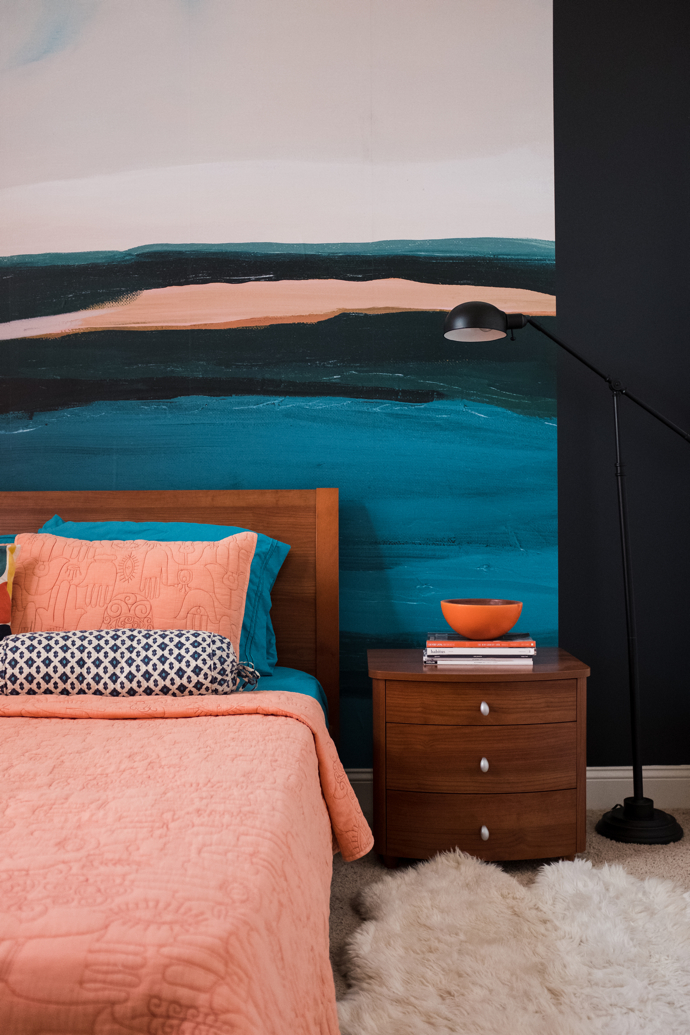 Guest Bedroom Receives an Update With Minted Wall Mural- design addict mom