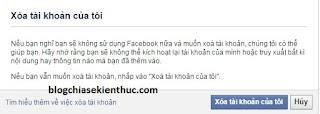 xóa tài khoản facebook 2