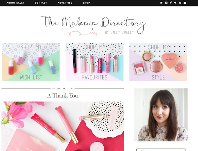 My 5 Favourite Bloggers, The Makeup Directory, Sally O'Kelly, Blog, Blogger