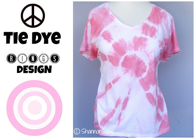 Make tie dye rings t-shirt tutorial
