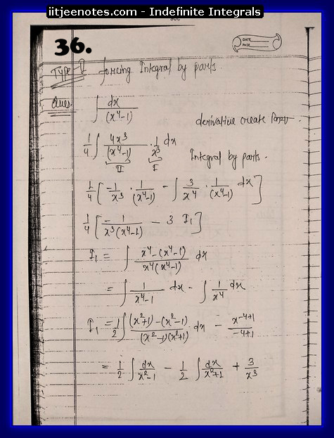 indefinite integrals iitjee8