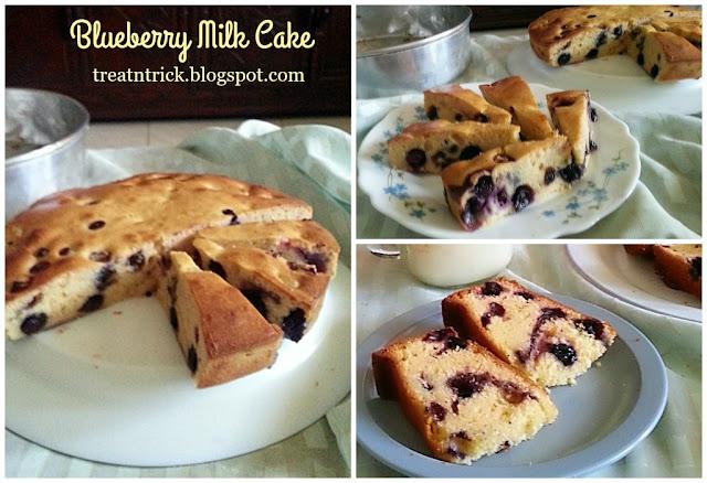 Blueberry Milk Cake Recipe @ treatntrick.blogspot.com