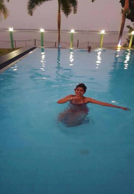 Gossiphotnews124 The Leates Video Nadeesha In Bikini At Swimming Pool