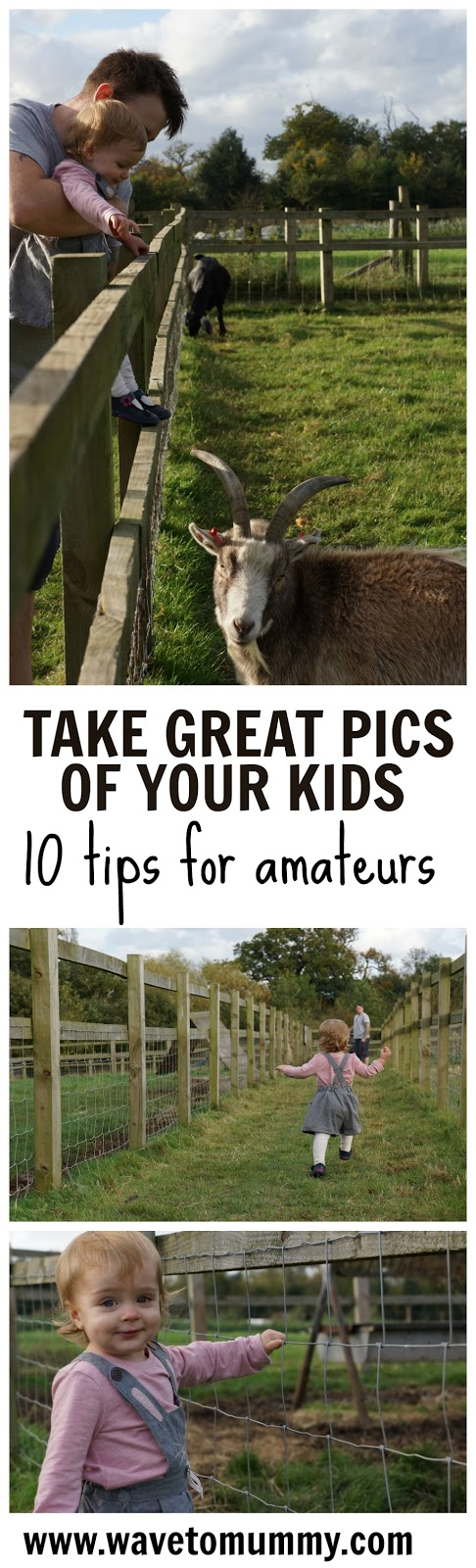 10 tips on how to take great photos of your kids. Simple photography tips suitable for total amateurs, including how to use light, composition and angles. This photography tutorial post is great for any parent that wants to take better pictures of their child, no matter what camera they use.