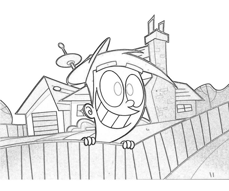 Fairly oddparents timmy turner action mario for Timmy turner coloring pages