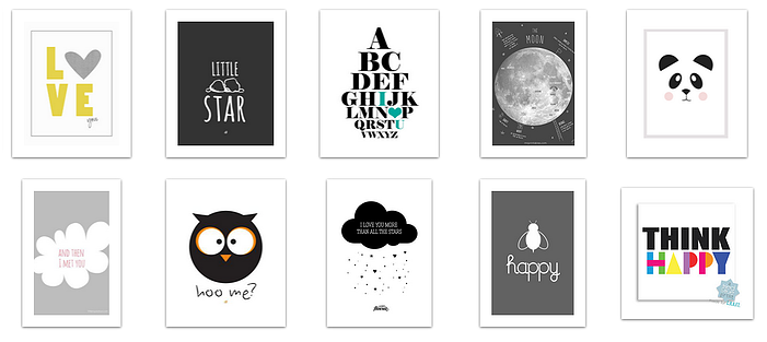 ... 10 Lovely Black + White Free Printable Posters for a Modern Baby Room