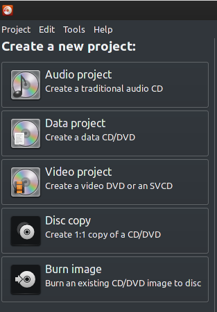 Using Brasero CD/DVD Tools in Archlinux