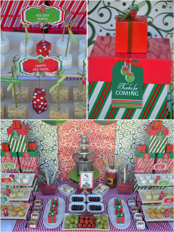 Bunco Christmas Party Ideas Part - 16: Fun Christmas Holiday Bunco Party Ideas - BirdsParty.com