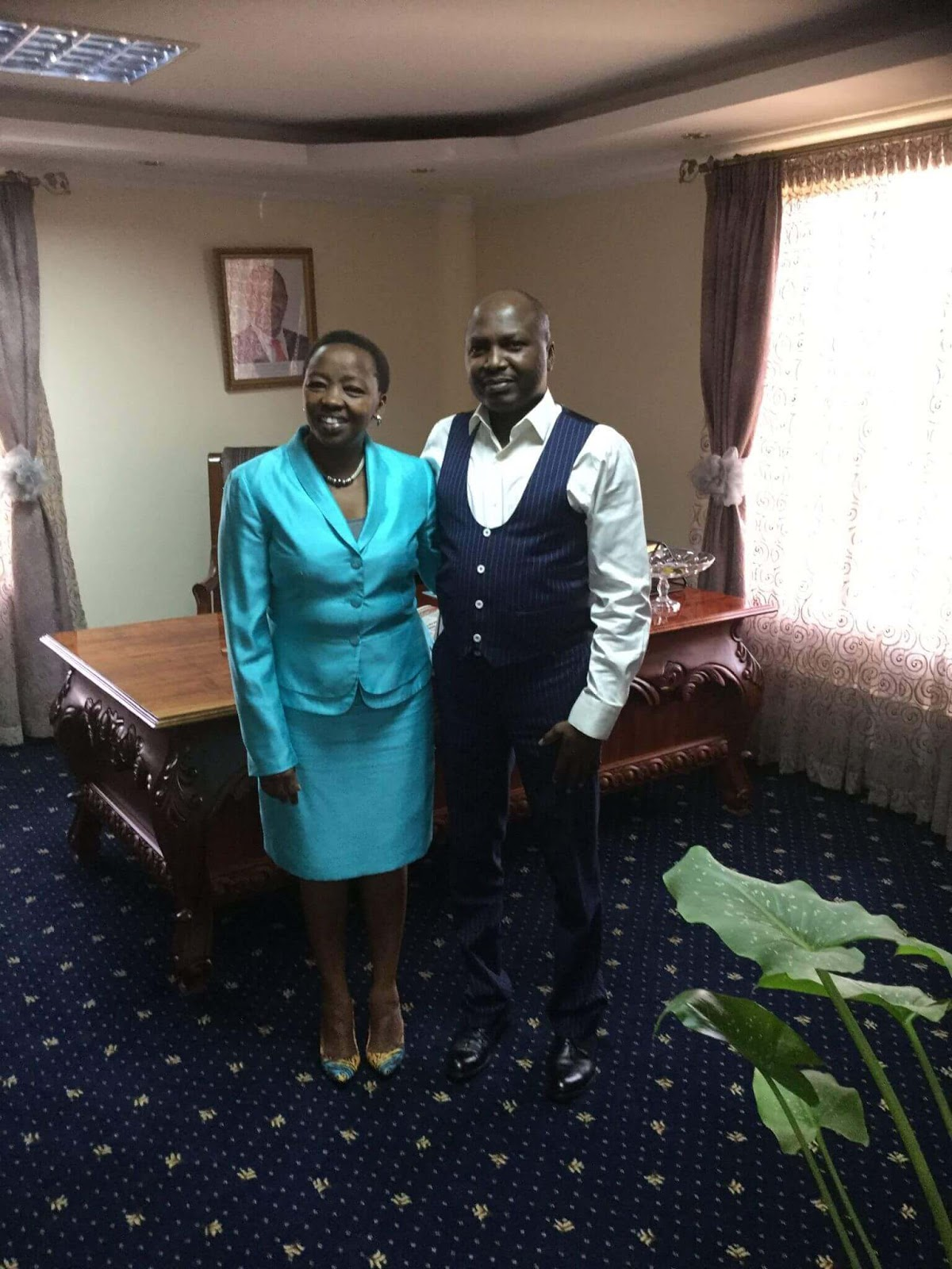 Donald Kipkorir With Rachel Ruto