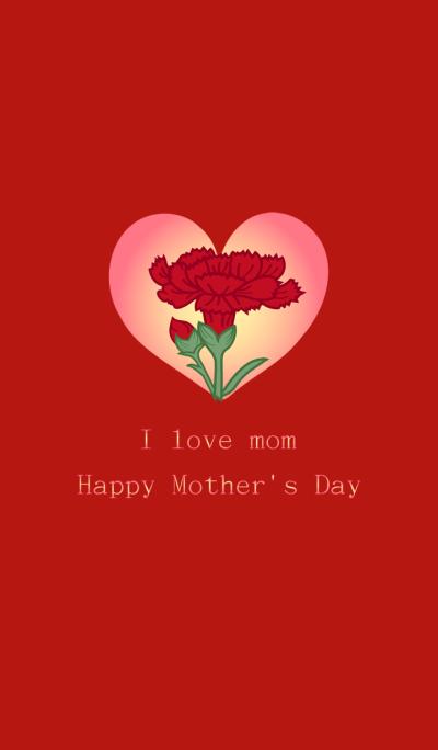 I love mom - Carnation