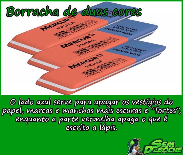 BORRACHA DE DUAS CORES