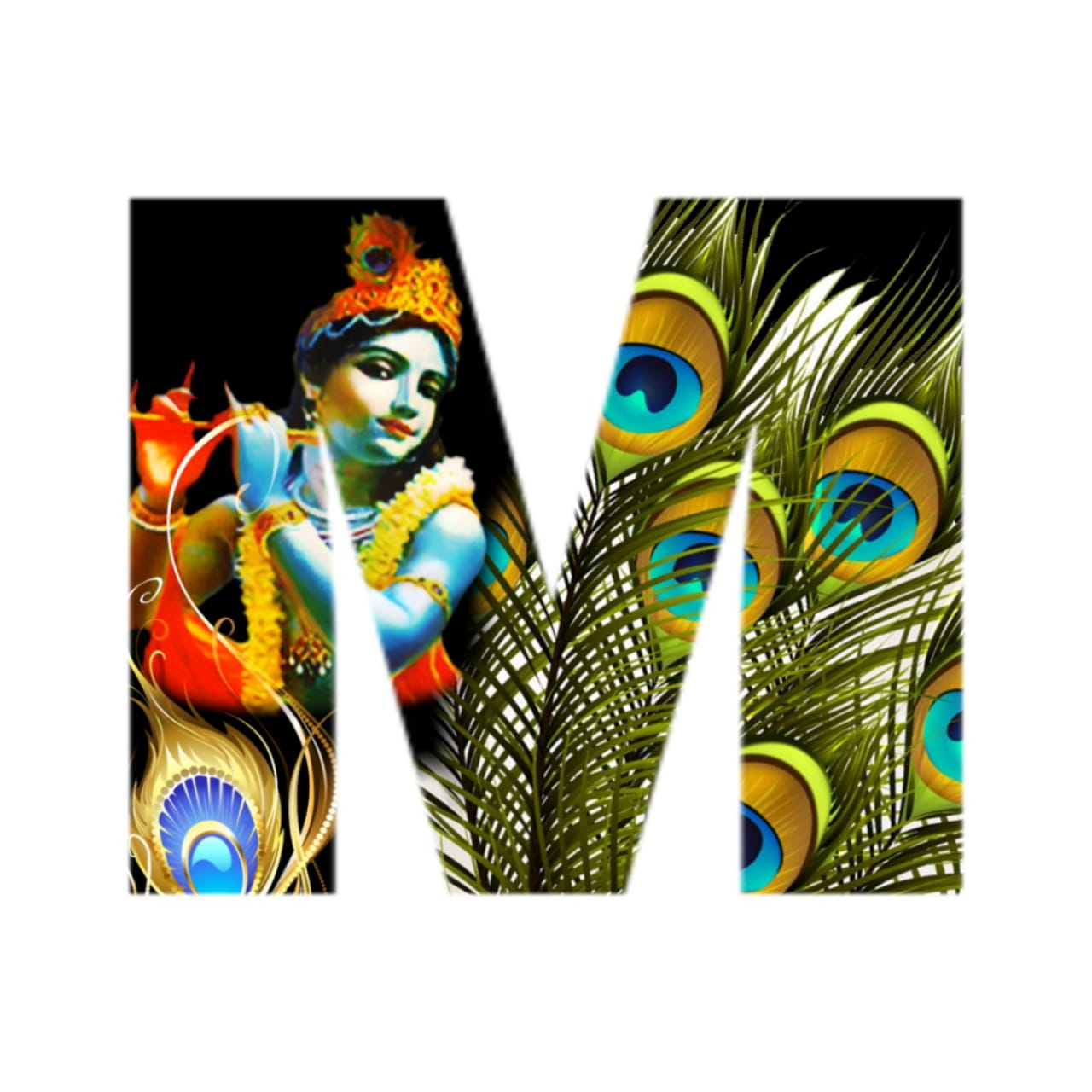 shree krishna alphabet m images