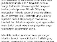 Sindir Pilgubsu, Sumanto Al-Qurtuby Diskakmat Dosen UIN Sumut !