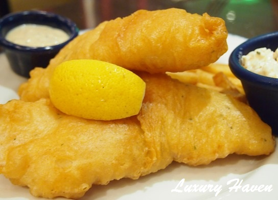 hard rock cafe penang fish and chips