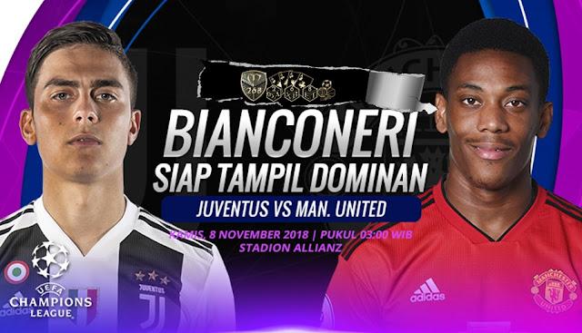 Prediksi Juventus Vs Manchester United, Kamis 08 November 2018 Pukul 03.00 WIB @ RCTI
