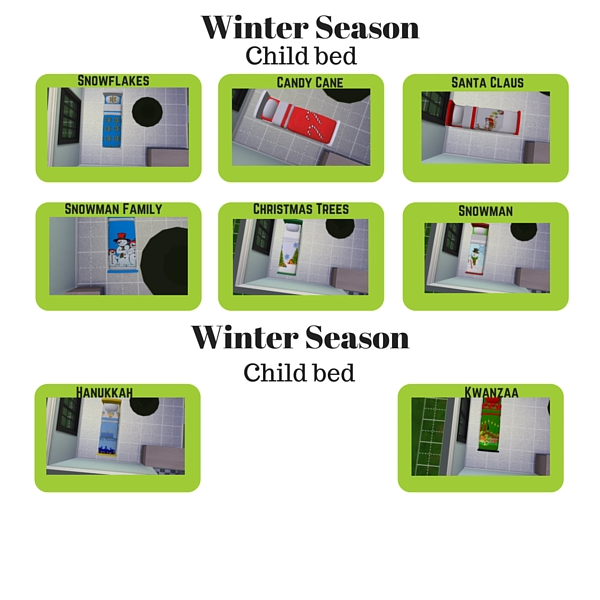 Sims 3 Seasons Christmas Tree: Winter Season Beds
