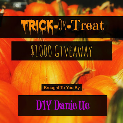 6 Popular Halloween projects with DIYDanielle. A summary of Halloween posts from this blog, and a CASH giveaway for $1000! Enter to win.