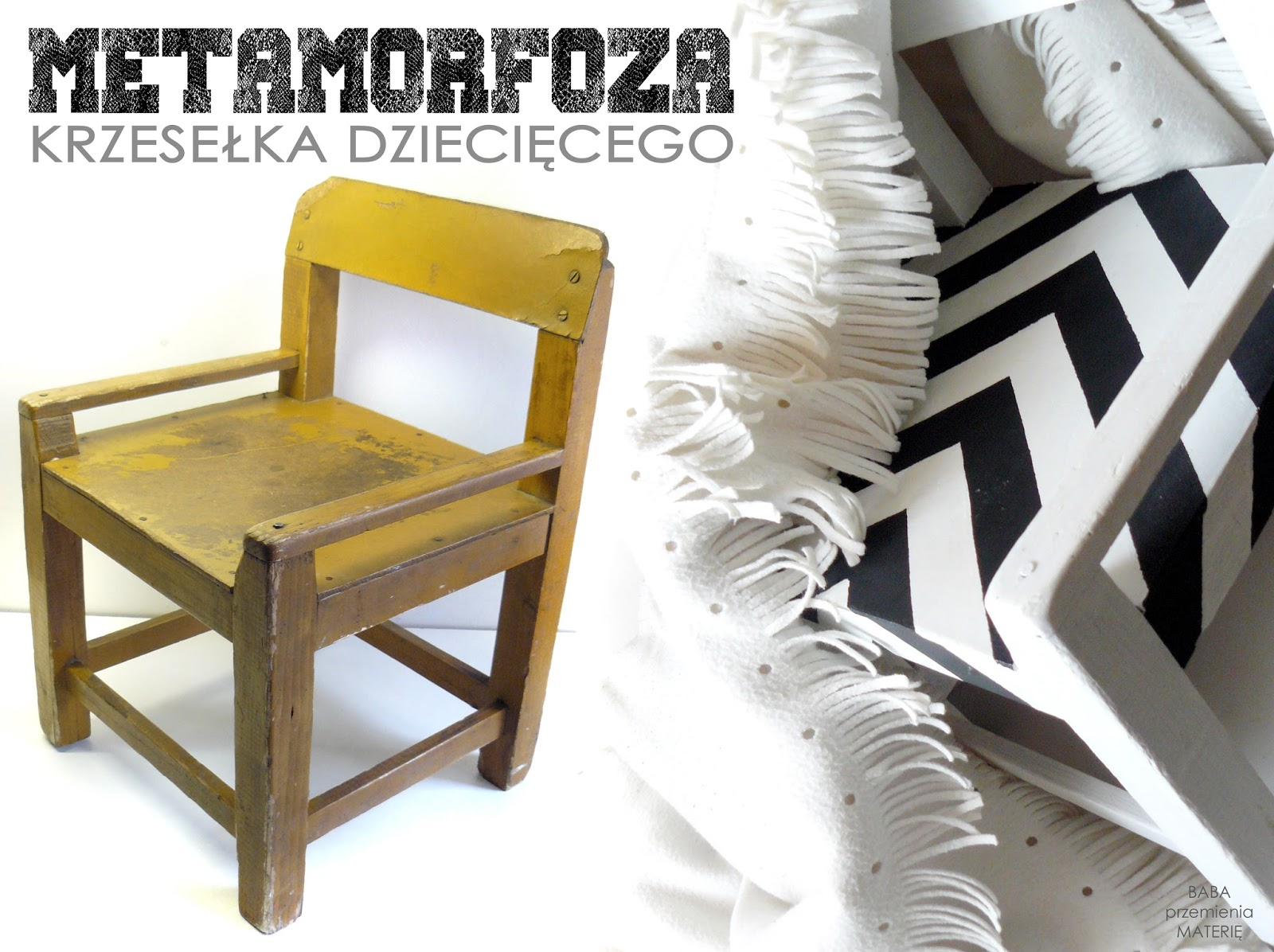 http://babaprzemieniamaterie.blogspot.com/2016/03/prosta-metamorfoza-drewnianego-krzeseka.html#more