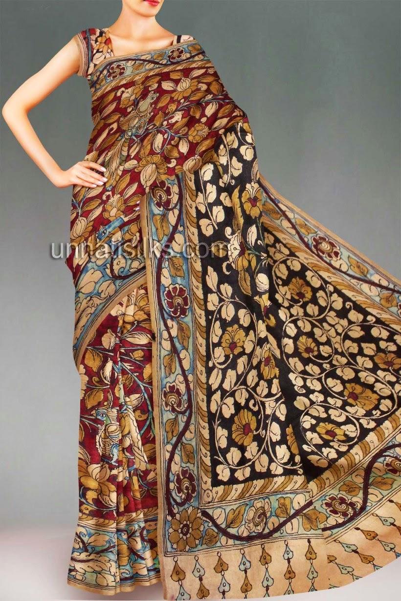 fa3401b4aec33 Indian trendy Fashionz for women  Kalamkari – life-like depictions ...