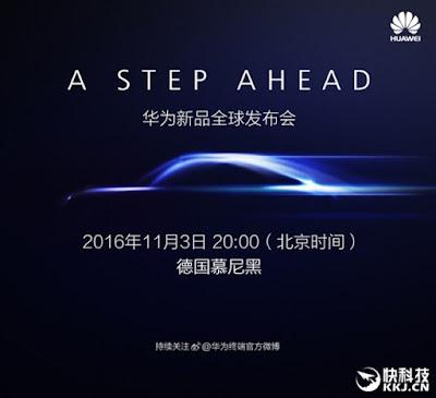 Teaser Huaewi Mate 9 Resmi Rilis 9 November dengan 6GB RAM dan Chipset Kirin 960