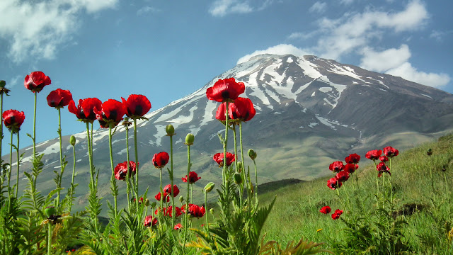 El monte Damavand en Irán