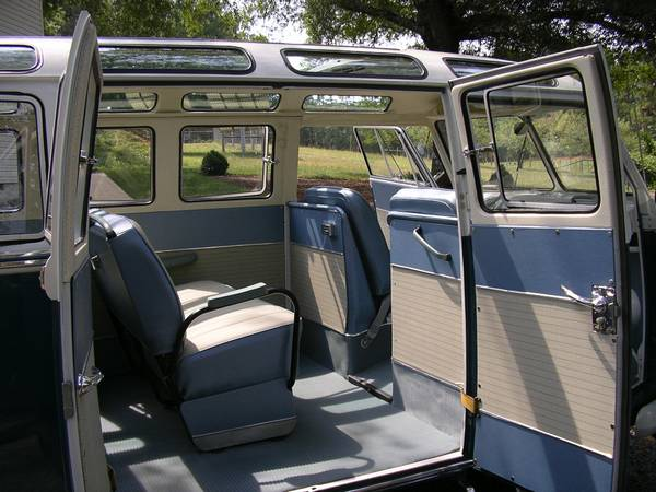 Classic VW Bus 21 Window Interior