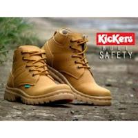 daftar harga sepatu pria terbaru Sepatu Kerja Lapangan Pria Kickers Boots Safety Tan
