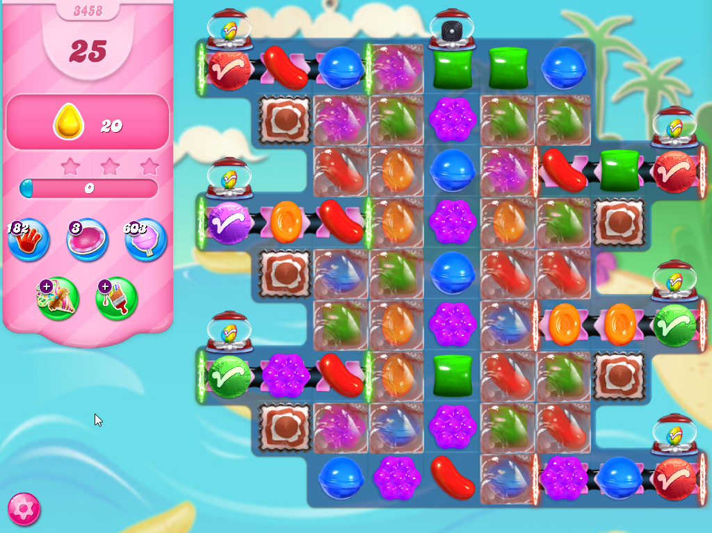 Candy Crush Saga level 3458
