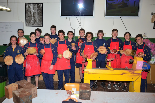 Yr 10 Excursion to the Woodturners' Shed