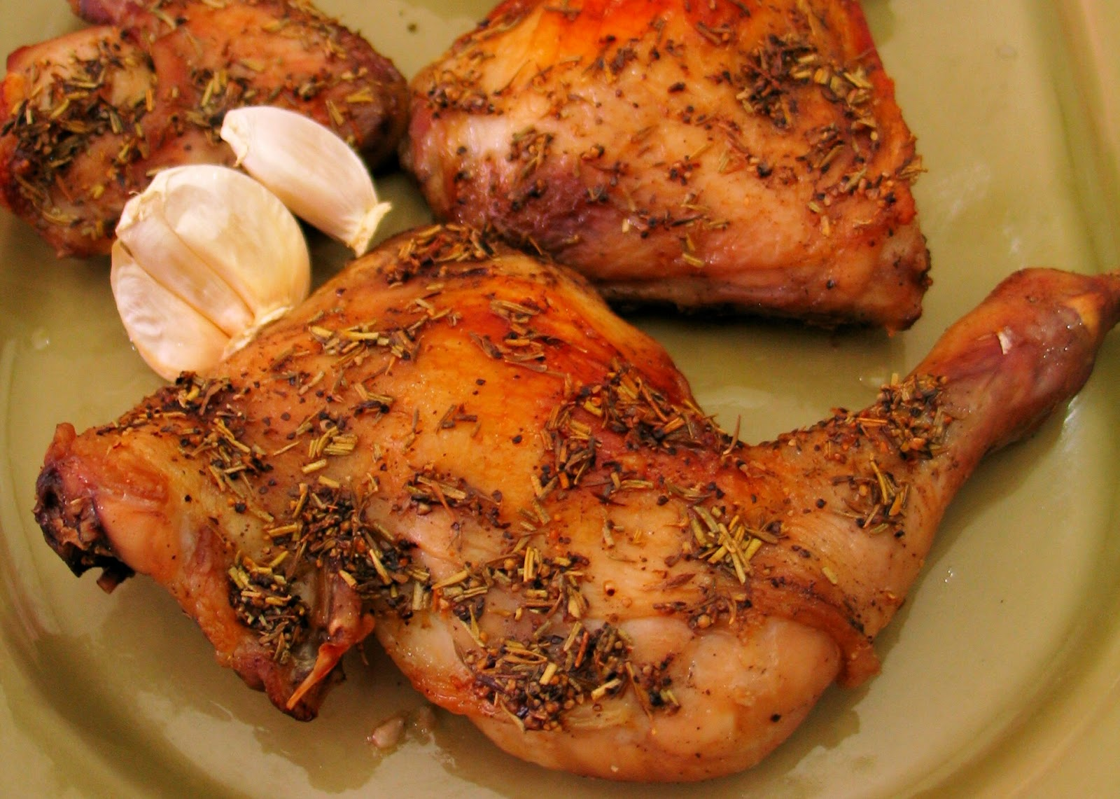 Food Notebook Oven Roasted Chicken Quarters