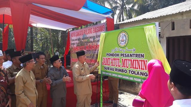 Bupati Ali Mukhni dan Wagub Nasrul Abit Resmikan Surau Rimbo Tolang dan Pondok Pesantren Jami'atul Mu'minin II