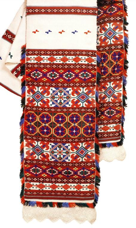 Ritual towels from Belarus decorated with intricate embroidery