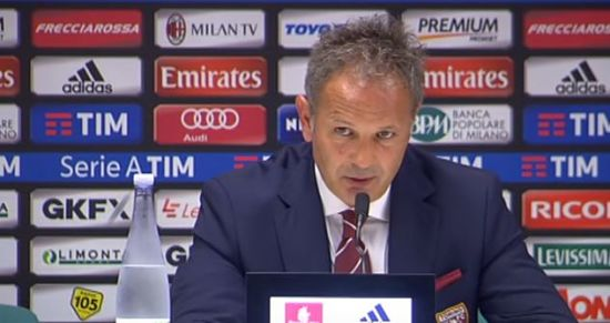 Milan Torino 3-2 la conferenza post partita di Sinisa Mihajlovic VIDEO