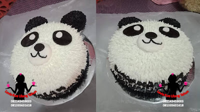 Kue Tart Karakter Bentuk beruang Panda