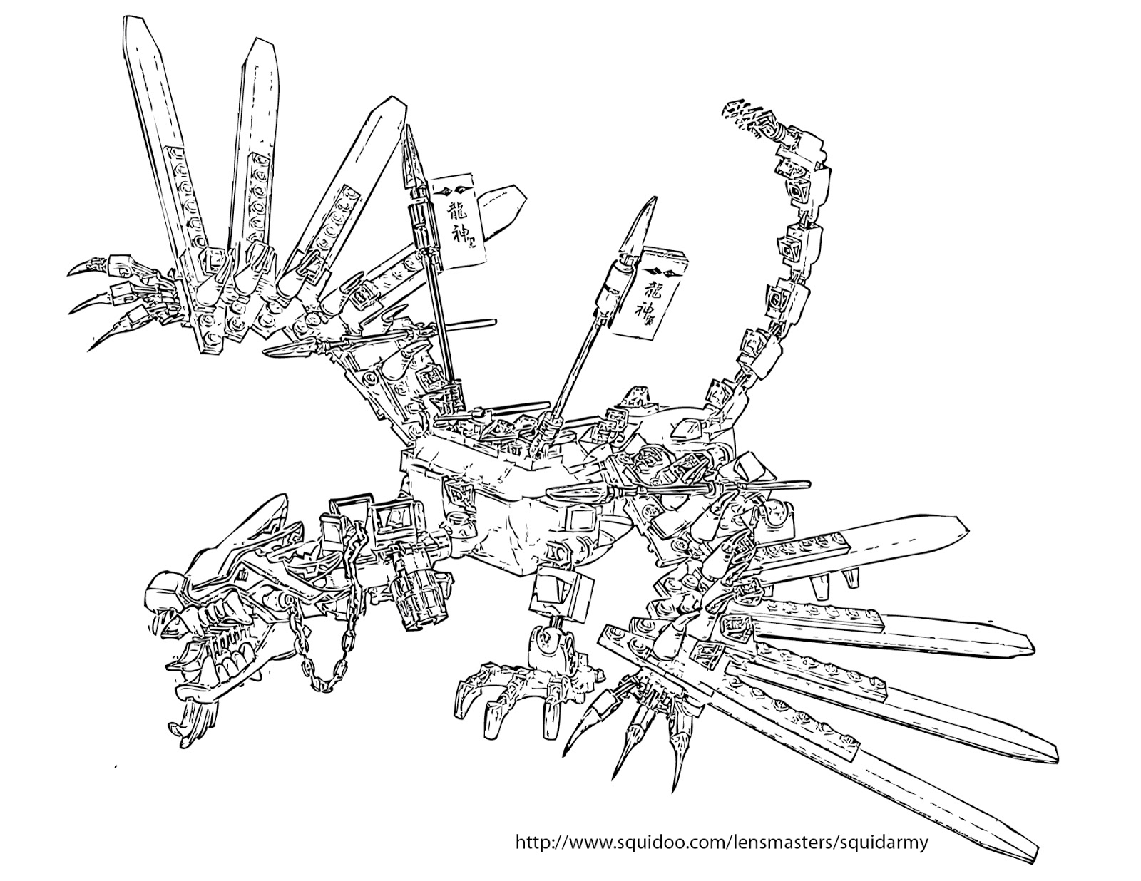 Ninjago Dragon Coloring Pages - Eskayalitim
