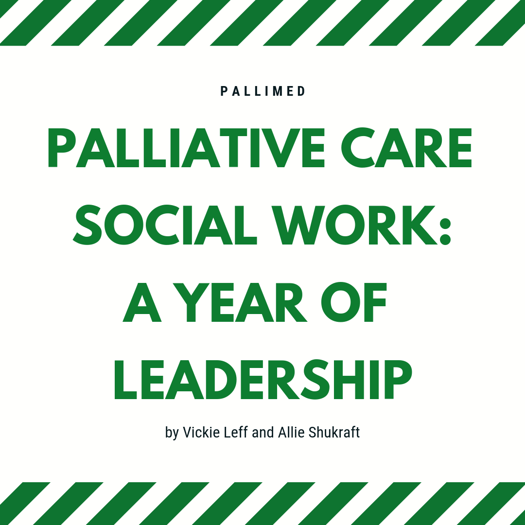 Palliative Care Social Work: A Year of Leadership ~ Pallimed