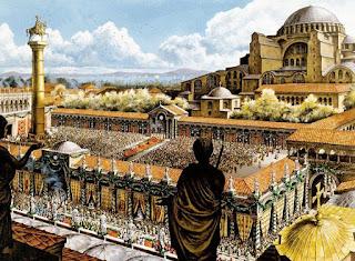 330 - Ο Κωνσταντίνος Α΄ εγκαινιάζει τη νέα πόλη που έχτισε πάνω στο Βυζάντιο και την ονομάζει Νέα Ρώμη. Η πόλη, όμως, θα μείνει στην ιστορία με το όνομα Κωνσταντινούπολη